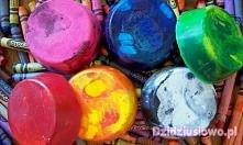 Kolorowe kredki z brokatem DIY (klik w zdjęcie)