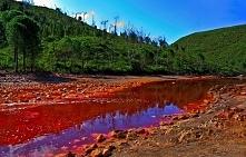 Miejsca warte odwiedzenia w Europie. Na obrazku rzeka Tinto w Hiszpanii.