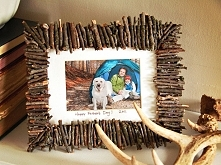Ramka zdobiona gałązkami