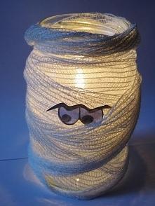 Lampion mumia.Idealny na Halloween. ;d
