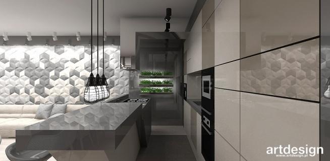 Nowoczesna Kuchnia Z Wyspa Projekt Apartamentu First Impres Na