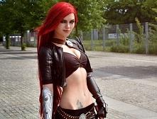 Cosplay Katariny z LoL'a by Andrasta. <3 Cudne ciało, świetny cosplay.