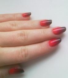 ombre na naturalnych paznokciach :)