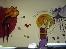 graffiti w biurze na zlecenie  wnętrza z charakterem - graffiti na zlecenie