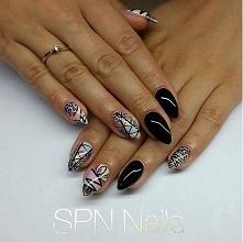 Głęboka czerń SPN Nails + p...