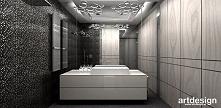 elegancka, nowoczesna łazienka z mozaiką i fornirem | FIRST IMPRESSIONS