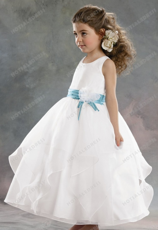 Organza And Crystal Satin Dress By Jordan Sweet Beginnings Collection L392