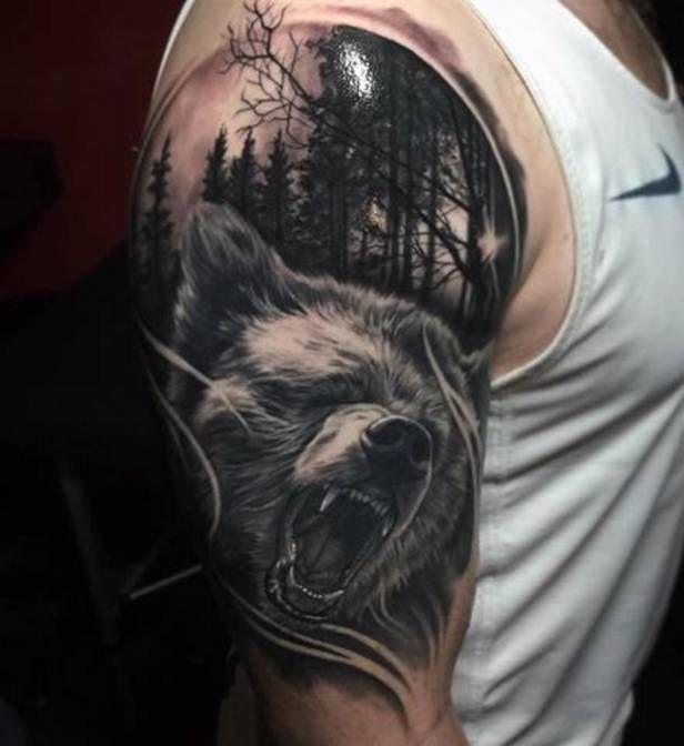 Niedźwiedź Na Tatuaże Zszywkapl
