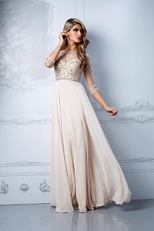 A-line Chiffon,tulle Scoop Floor Length Prom Dress