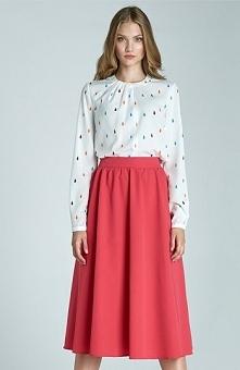Nife SP28 spódnica fuksja Elegancka spódnica, modny fason, wykonana z gładkie...