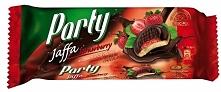 Delicje truskawkowe, biszkopty z galaretką truskawkową w czekoladzie, Party Jaffa Strawberry, Delicpol