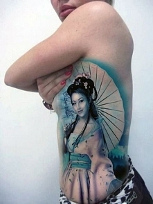 tatuaże damskie geisha