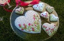 Słodkie malowane pierniczki jako prezent na Rocznicę, Ślub, Święta Wielkanocn...