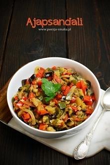 Ajapsandali – smażone warzywa  1 duży bakłażan 2 duże cebule (lub 3 średnie) ...