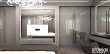 beżowa sypialnia z garderobą | BEAUTY PURITY