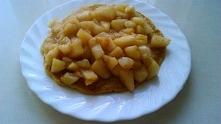 Omlet owsiany + smażone jab...
