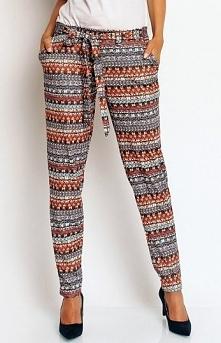Karen-styl H51 spodnie boho Modne spodnie, wykonane z wzorzystej dzianiny, no...