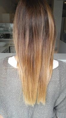 moje nowe włosy :)  ombre k...
