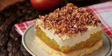 szarlotka z kokosem , szarlotka ze smietana , prazony kokos , ciasto jablkowe...