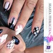 Nails black&white Mistero Milano
