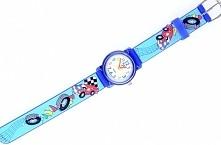 Dla fanów czterech kółek - uroczy zegarek z ozdobnym paskiem z motywem samochodów - kolekcja GESELLE Jubiler