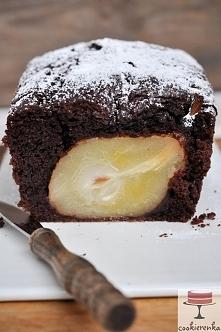 Ciasto czekoladowe z gruszkami .... a raczej gruszki w cieście czekoladowym :)  Przepis po kliknięciu w zdj.