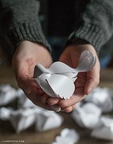 DIY Papierowy ptaszek  szab...