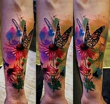 motyl i kwiatki