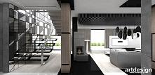 schody wspornikowe, na ścianie kompozycja z luster  | THE ARTDESIGN SPIRIT