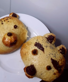 Bułeczki misie <3  Na blogu Toster w kuchni :)