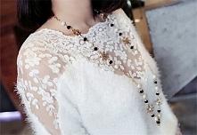 pomysł na ślubny sweterek, kto jest za? :) (oczywiście bez łańcuszka)