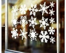 Naklejki Na Szybę Płatki Śniegu - Dekoracje Świąteczne