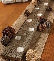 Ozdoba na stół, drewno