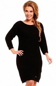 Lemoniade LS157 sweter czarny Piękny ciepły sweter, wykonany z grubej dzianin...