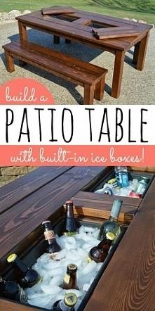 """Stół ogrodowy z """"lodów..."""