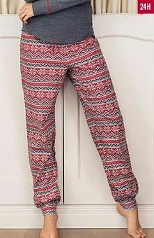 Esotiq 33519 Dolly spodnie Urocze spodnie do spania, długie, modne, świateczn...