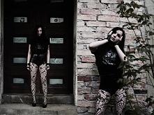 Modelka Silver Wolfie, foto Karolina Karnaś, sesja dla zespołu Shining