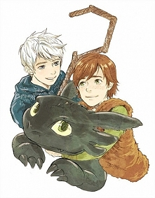 Jack Frost & Hiccup & Toothless