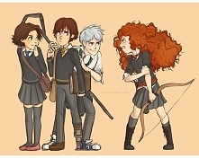 Jack, Merida, Hiccup & Rapunzel
