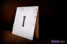 Numery stołów weselnych - ręcznie robione