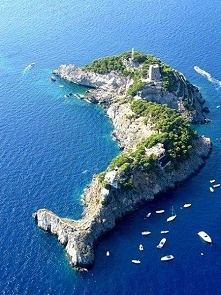A Dolphin Shaped Island, In Southern Italy.