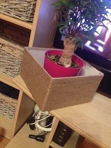 moje 1 pudło owijane sznurkiem, proste i łatwe a jak ładnie wyglada :)