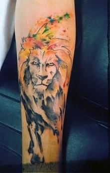 tatuaże artystyczne lew