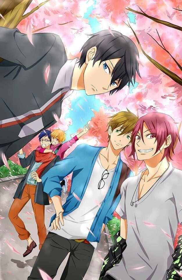 Free! - anime opowiada o grupie chłopców, kochających pływać. Decydują się reaktywować w ich szkole drużynę pływacką i pojechać na zawody. Głównym bohaterem jest Haruka Nanase, który pływa jedynie stylem dowolnym czyli tytułowym FREE. Anime mówi o przyjaźni, współzawodnictwie i obfituje w wątki komediowe.   Moja ocena: Anime jest ciekawe, jedno z pierwszych, które obejrzałam. Jest wciągające i pełne fajnych, barwnych postaci w tym cudnego Haru i Rina. Polecam.