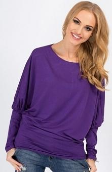 Makadamia 8553 bluzka fiolet Świetna bluzka, wykonana z jednolitego materiału...