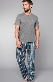 Henderson 33769 Imago piżama Komfortowa piżama męska, melanżowa koszulka, kró...