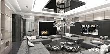 luksusowy salon z kominkiem | MUST HAVE