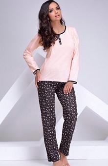 Taro Inez 961 piżama morelowa Urocza piżama damska, z miękkiej bawełny, koszu...