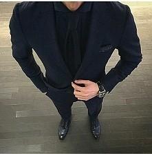 •black•suit••look