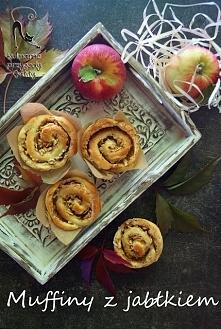 Muffiny zawijane z jabłkiem i cynamonem